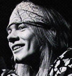 Axl Rose. I love his smiles!