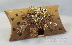 Gorgeous Gold Pillow Box by @kittie747! #EllenHutsonLLC @lawnfawn