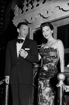 "Ava Gardner & Frank Sinatra at the premiere of ""Showboat"", in which Ava starred.  #modcloth #styleicon"