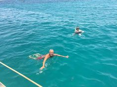 Snorkeling time in Sal, Cape Verde.  Private exclusive jump from your private yatch!