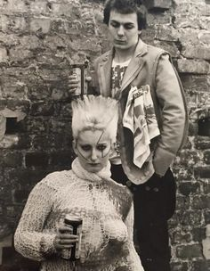 jordon with sid vicious 70s Punk, Punk Goth, One Wave, The New Wave, Cold Band, Underground Film, Punk Poster, Punk Rock Girls, British Punk