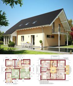 Klassisches Einfamilienhaus mit Einliegerwohnung & Satteldach Architektur - Zweifamilienhaus bauen Grundriss Haus Evolution 207 V2 Bien Zenker Fertighaus Ideen - HausbauDirekt.de