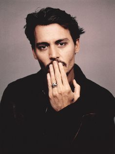 Johnny Depp #Celeb #Portrait, hand, fingers, beard, intense eyes, sexy guy, steaming hot, portrait, celeb, famous, photo