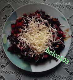 Cviklový šalát na večeru (fotorecept)
