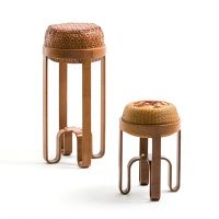 Bamboo is a natural material, able to be made as flexible and sustainable contemporary furniture by designers. The design concept breaks through the ductile character of Bamboo and constructs a strength stool. The small stool can be stored inside the big one.