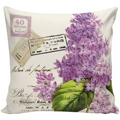 Easter Pillow Botanical Print Document Burlap Cotton Spring Lilac... (300 ZAR) ❤ liked on Polyvore featuring home, home decor, throw pillows, black, decorative pillows, home & living, home décor, burlap throw pillows, flowered throw pillows and floral throw pillows