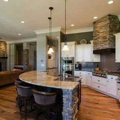 Interesting look - stone range hood