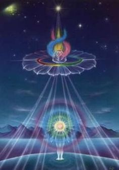 By mastering and combining the energies of the Heart and the Sacred High Heart, we ignite the three-fold divine flame of the One Heart and our Portal to the higher realms is activated and opened unto us ❤tami (art;sonia.messmer.fb)