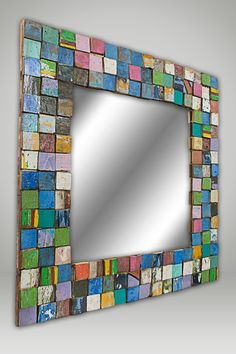 Eco-friendly mirror mosiac.