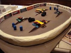Paper Mache Recipe for making a monster truck track