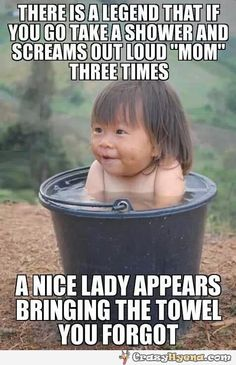 Humorous+picture+of+a+cute+girl+which+is+bathing+inside+a+basket+and+a+legend+about+mom+bringing+towels+if+you+call+her