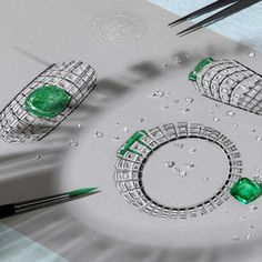 A masterclass in design - @cartier sketch of the Clarté bracelet launched in…