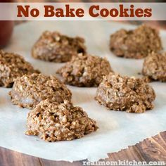 No Bake Cookies | realmomkitchen.com