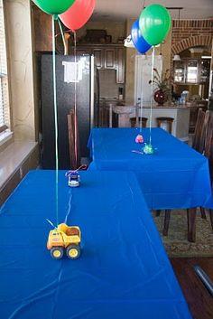 Trucks to hold balloons