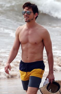 Shirtless Matt Bomer in Maui, Hawaii | Pictures | POPSUGAR Celebrity
