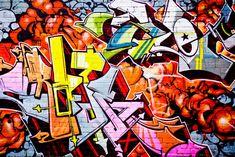 Street graffiti Fototapet & Tapet Graffiti – Graffiti World Graffiti Art, Graffiti Wallpaper, Graffiti Tagging, Street Graffiti, Wall Wallpaper, Orange Wallpaper, Tag Street Art, Wall Murals, Painting