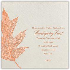 Oak - orange - Paperless Post