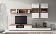 muebles salon blanco y madera - Buscar con Google