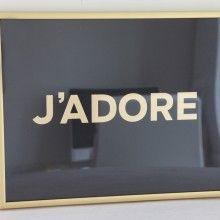 Black+Gold J'ADORE