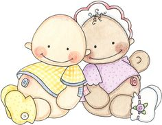 BABY GIRL AND BOY CLIP ART
