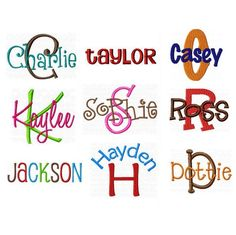 All Embroidery Fonts Pack Alphabet Designs by MonogramFontStore