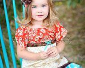 Girl's Savannah Peasant Dress- NEW- Fall 2013 Collection from Mellon Monkeys