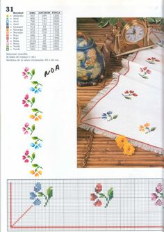 Gallery.ru / Фото #27 - Punto de сruz 3 - anfisa1 Cross Stitch Borders, Cross Stitch Alphabet, Cross Stitch Flowers, Cross Stitch Kits, Cross Stitching, Cross Stitch Embroidery, Embroidery Patterns, Cross Stitch Patterns, Simple Embroidery