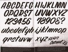 casual alphabet by Kenji Nakayama