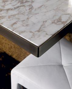 table detail | bronze edge