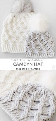 crochet hats Ever struggled with keeping your bun under your beanie? Struggle no more! Messy bun crochet beanies are easy to wear and look very cute. Thanks to nice hole at the top you ca Easy Crochet Hat, Crochet Simple, Bonnet Crochet, Crochet Winter Hats, Crochet Beanie Pattern, Cute Crochet, Crochet Scarves, Crochet Crafts, Knit Crochet