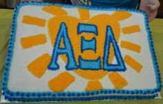 Alpha Xi Delta cake! this is adorable