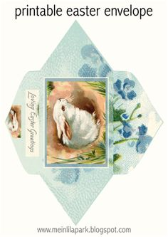 Free printable loving Easter greetings envelope- http://meinlilapark.blogspot.ch- Click on the image to enlarge- save as!