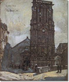 Frederick Childe Hassam - Church In Winter 1910