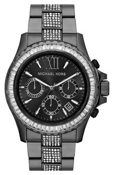 Michael Kors 'Everest' Baguette Crystal Bezel Bracelet Watch, 41mm | Nordstrom