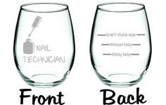Nail Technician Glass with Funny Levels On von WulfCreekDesigns
