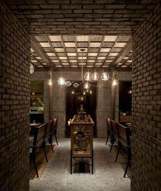 Capo Italian restaurant by Neri&Hu, Shanghai Asia Restaurant, Restaurant Concept, Restaurant Design, Interior Design Elements, New Interior Design, Interior Design Magazine, Cafeteria Decor, Neri And Hu