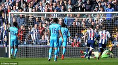 Ben Foster was the Baggies' hero as he sprawls to his left to save the Adeboyer penalty at a time when West Brom were up against Spurs. West Bromwich, Comebacks, The Fosters, Hero, Football, Sports, Soccer, Hs Sports, Futbol