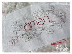 LORD'S PRAYER quilt with 26 stitchery blocks | Craftsy
