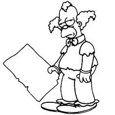coloriage-krusty-le-clown-simpson.jpg (760×760)