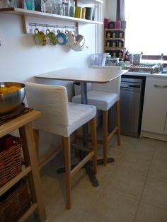 Ikea Lerhamn Table Ingolf Chairs Apartment Decor