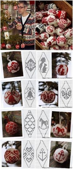 50 New Ideas Knitting Christmas Ornaments Xmas Knit Christmas Ornaments, Christmas Knitting, Christmas Cross, All Things Christmas, Christmas Diy, Christmas Decorations, Knitting Charts, Knitting Patterns, Christmas Inspiration