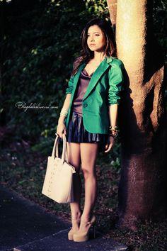 Blog da Lê-Moda Acessível: Green Blazer