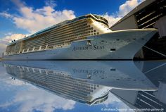 Anthem of the Seas 's reflection at Meyer Werft