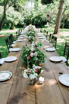 Long al fresco table: http://www.stylemepretty.com/2015/02/18/intimate-alfreso-brunch-wedding/   Photography: With Love & Embers - http://www.withloveandembers.com/