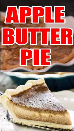 Apple Butter Pie Apple Butter Pie has a 5 minute filling bursting with traditional fall flavor. A great alternative to pumpkin pie!Apple Butter Pie has a 5 minute filling bursting with traditional fall flavor. A great alternative to pumpkin pie! Apple Pie Recipes, Apple Desserts, Just Desserts, Fall Recipes, Delicious Desserts, Health Desserts, Pumpkin Recipes, Food Network, All You Need Is