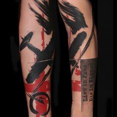 realistic_trash_polka by Buena Vista Tattoo - Würzburg Skull Sleeve Tattoos, Hair Tattoos, New Tattoos, Tribal Tattoos, Tattoos For Guys, Cool Tattoos, Tatoos, Trash Polka Tattoos, Tattoo Trash