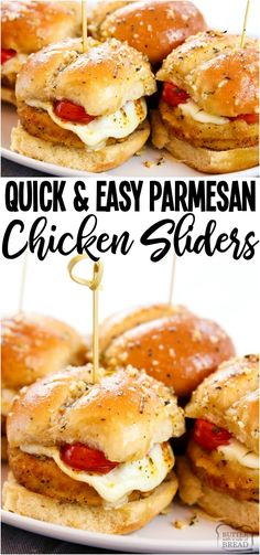 Chicken Parmesan Sliders made in under 30 minutes and perfect for game day! Simple & flavorful Chicken Parm recipe made into easy appetizers. from BUTTER WITH A SIDE OF BREAD Gluten Free Puff Pastry, Chicken Parmesan Recipes, Chicken Parmesan Sliders Recipe, Slider Recipes, Butter, Chicken Flavors, Wrap Sandwiches, Parma, Appetizer Recipes