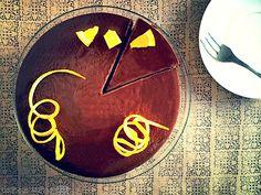 Cheesecake de chocolate a la naranja Chocolate, Clock, Desserts, Cheesecake, Decor, Instagram, Orange, Recipes, Watch
