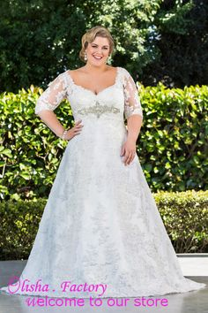 Free shipping, $202.62/Piece:buy wholesale modest scoop neck with sleeves plus size wedding dresses with beads see through back with buttons lace wedding gowns aline from DHgate.com,get worldwide delivery and buyer protection service.