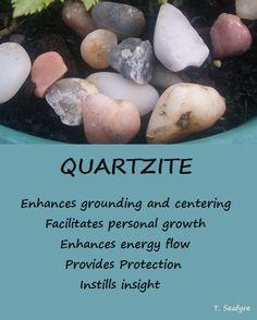 Quartzite Healing Rocks, Crystal Healing Stones, Crystals And Gemstones, Stones And Crystals, Crystal Identification, Crystal Meanings, Chakra Meditation, Mineral Stone, Healing Bracelets